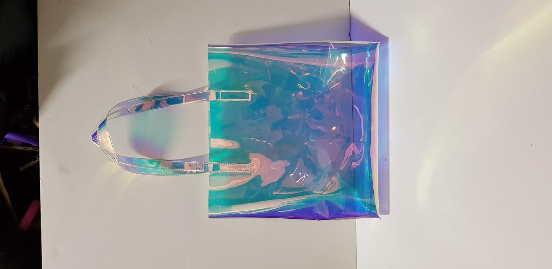 홀로그램 숄더백 투명가방 비닐백 피크닉 쇼퍼백 토트백 패션가방 보조가방
