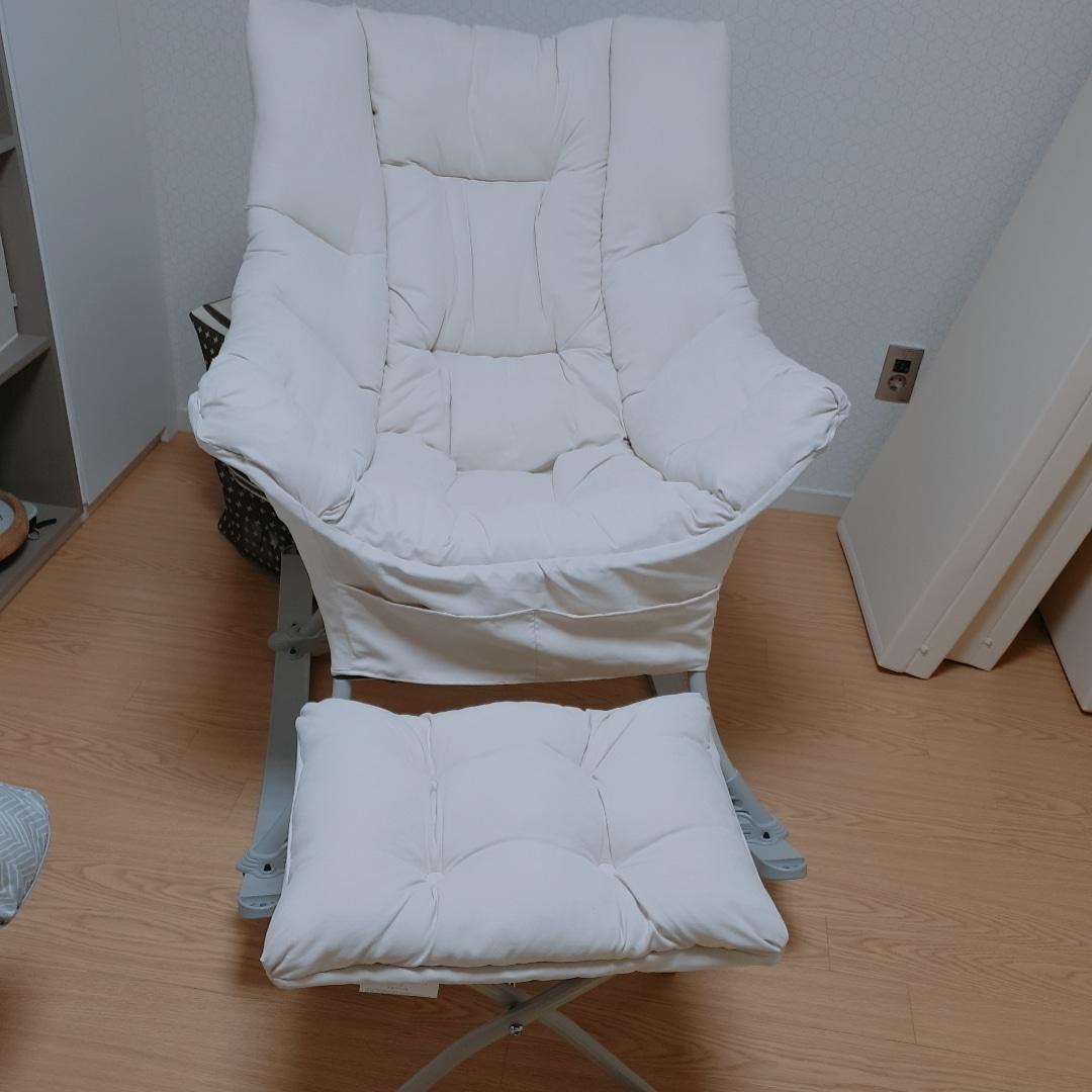 캠프밸리 락킹체어(흔들의자,수유의자)+발받침 스툴