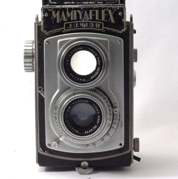 빈티지 Mamiyaflex Junior Medium Format TLR 커메라