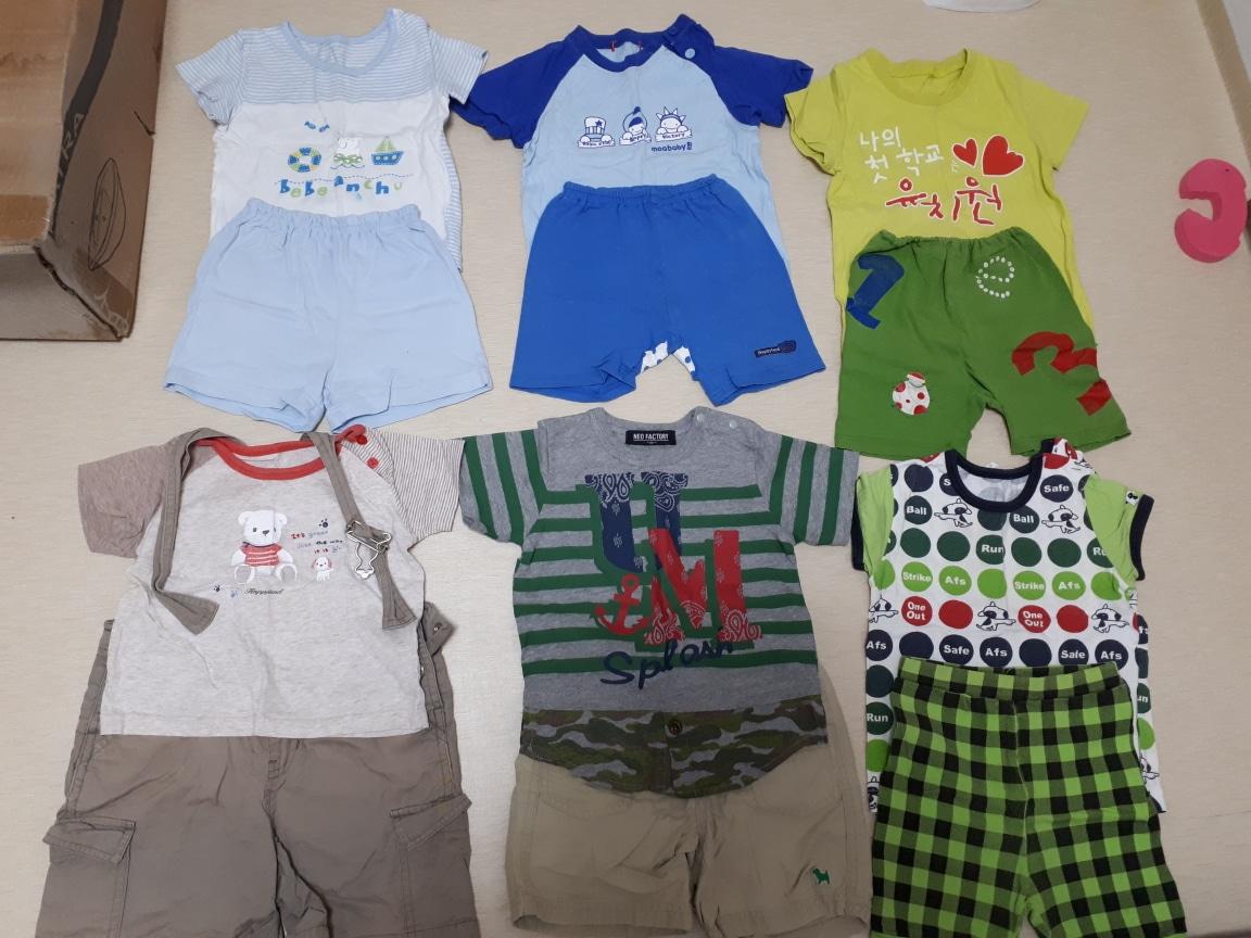 유아 옷 상 하의 세트