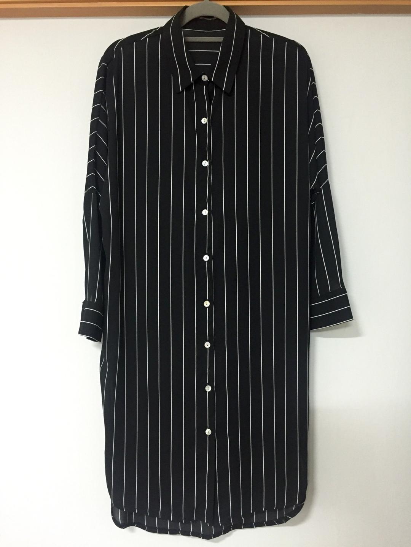 (새제품) LAP 시스루 스트라이프 롱 셔츠