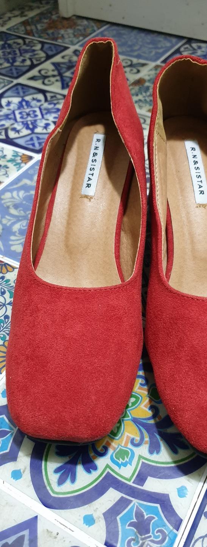 빨간 스웨이드구두 새신발250사이즈
