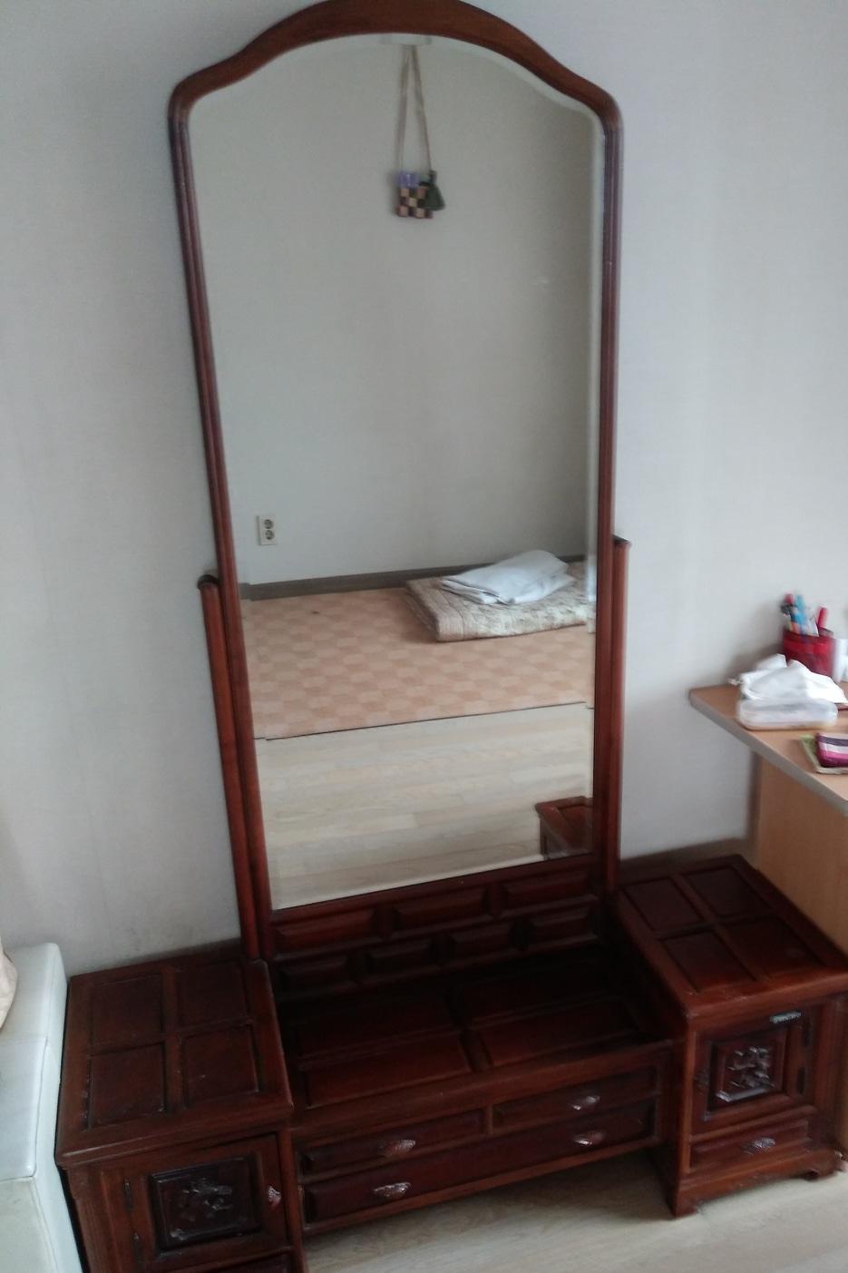 좌식 화장대와 의자