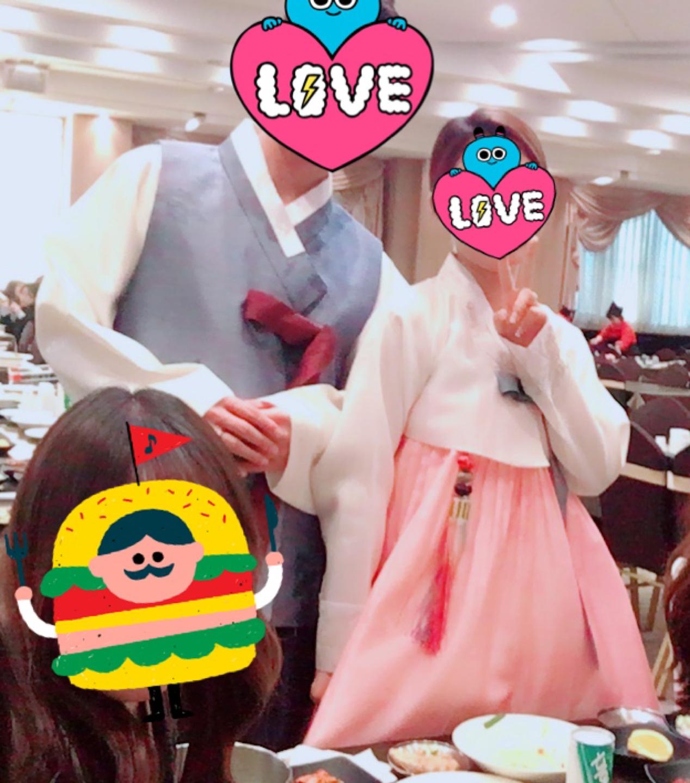 반가의 남녀 결혼식 한복 세트