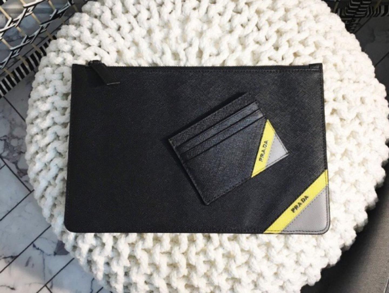프라 레터링 클러치+카드지갑 세트 (새상품)
