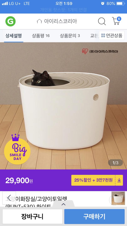 고양이 화장실 대형 무료나눔