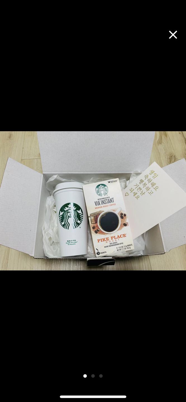 스타벅스 리유저블 텀블러 + VIA 커피 + 카드 세트 16,000원