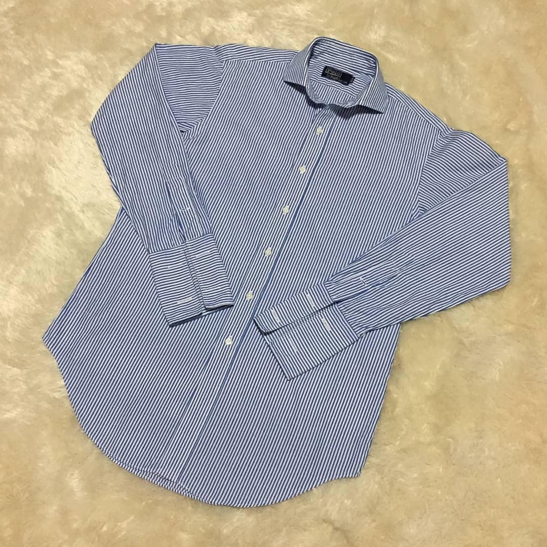 L 폴로 스트라이프 셔츠