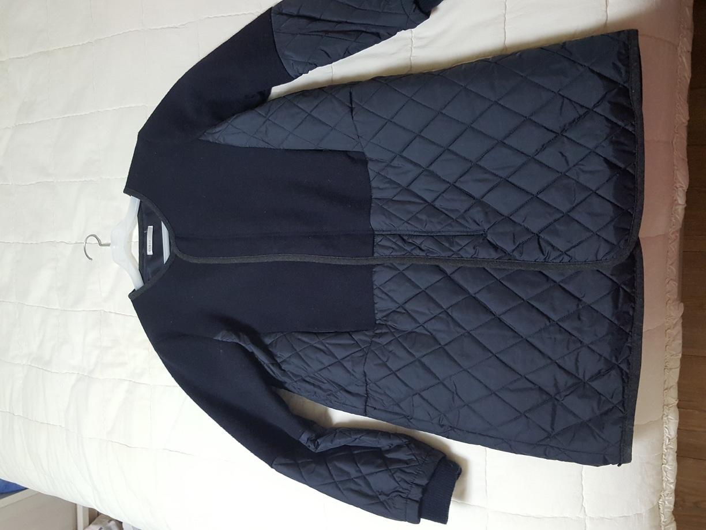 누빔 네이비 코트