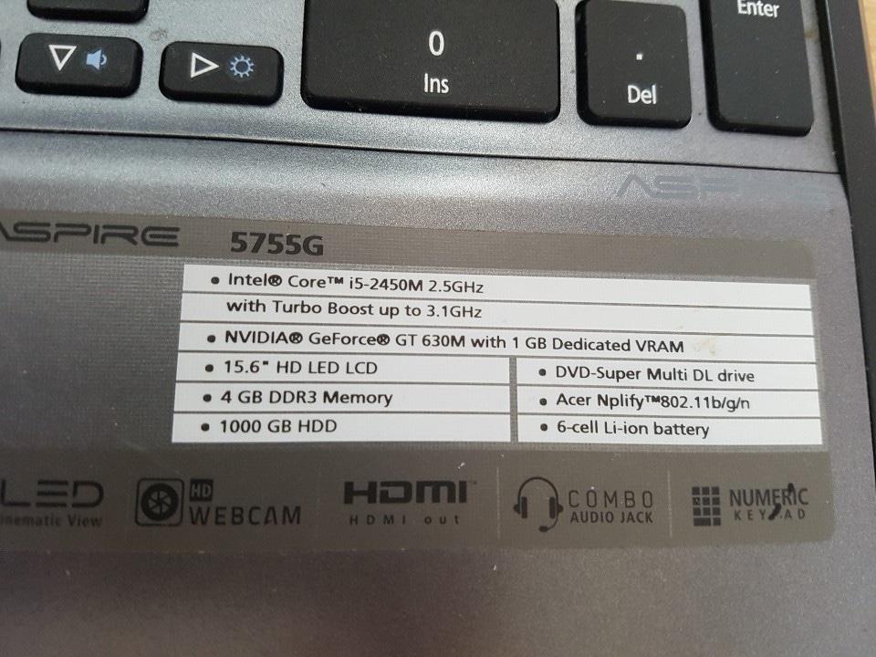 에이서 i5 2세대 부품용 판매