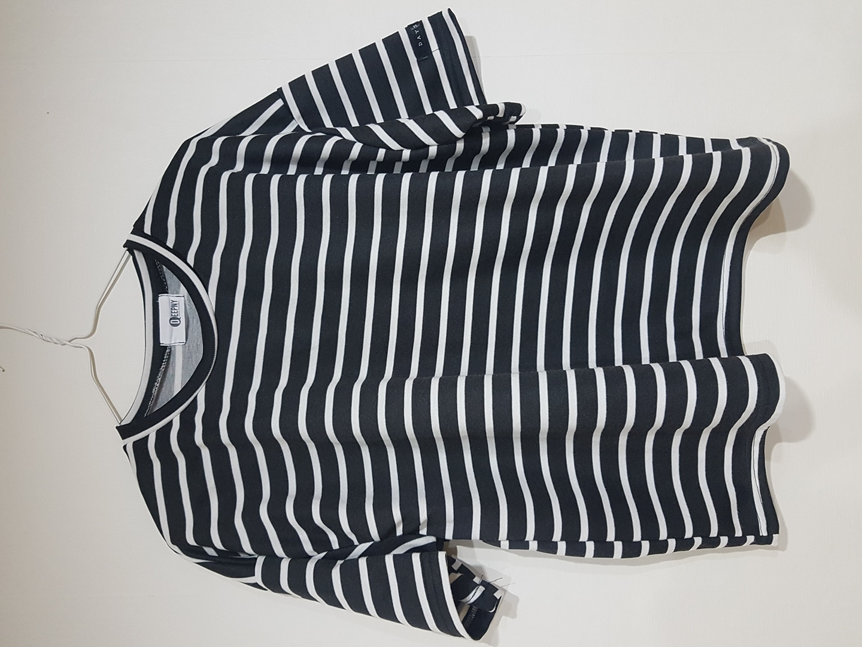여성 줄무니 여름티셔츠