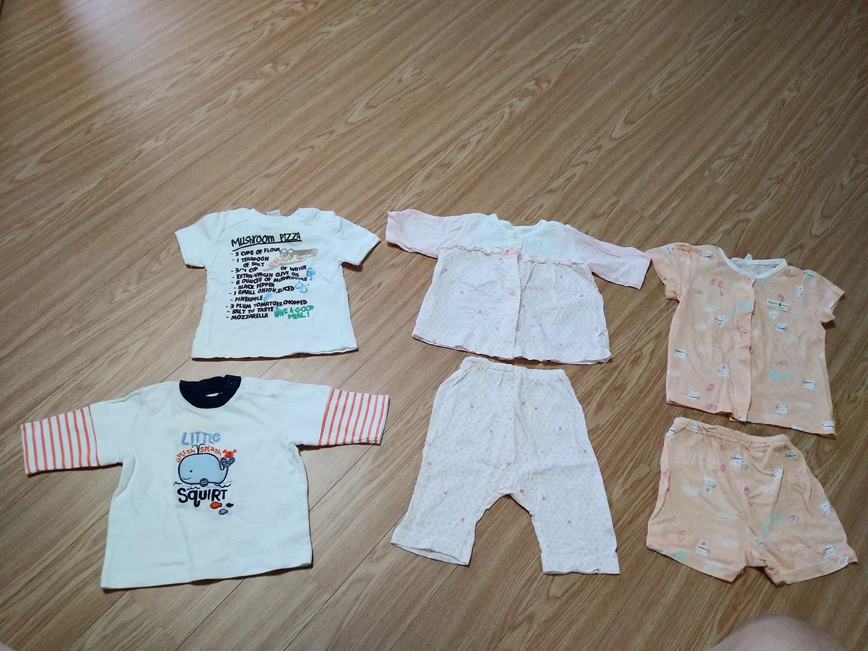 아기옷일괄 사이즈75 아기옷 아가옷 우주복 남아옷 여아옷