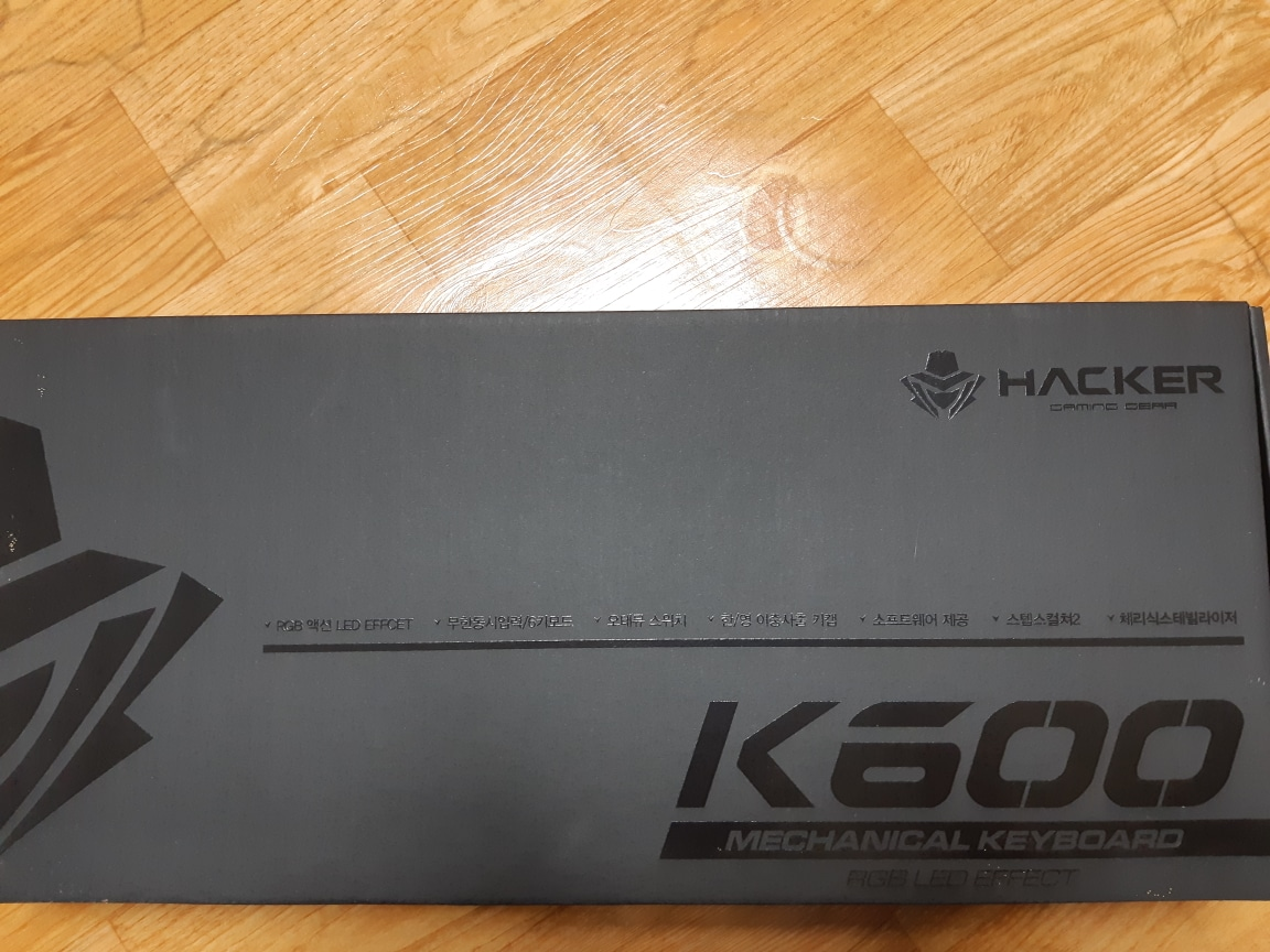 해커 K600 RGB LED게이밍키보드