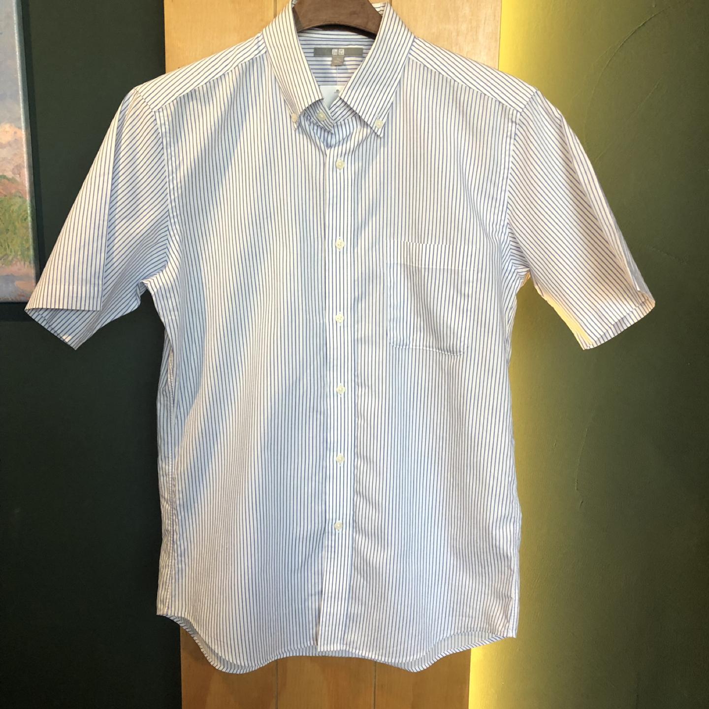 [일본구제] 유니클로 스트라이프 셔츠 L