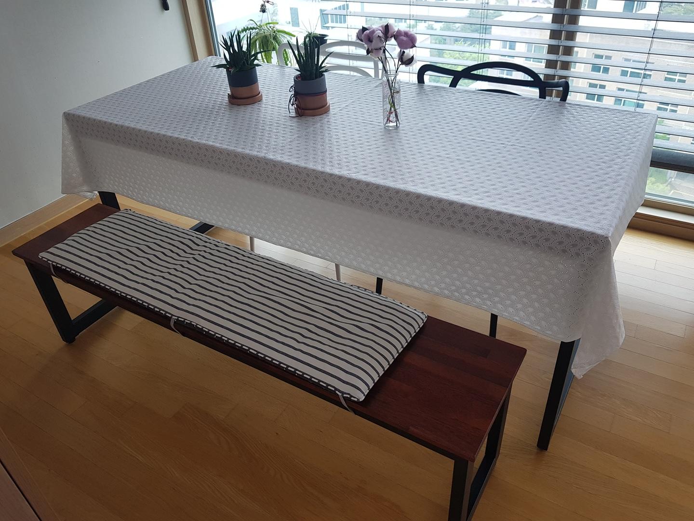 멀바우 6인용 식탁 + 벤치의자1개+ 의자2개