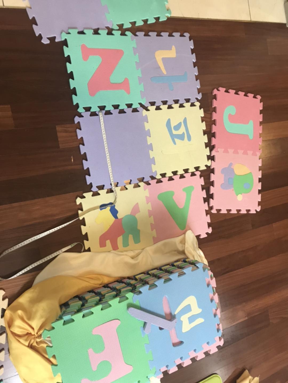 퍼즐 매트, 놀이매트. 영어 한글 그림. 아주 많음