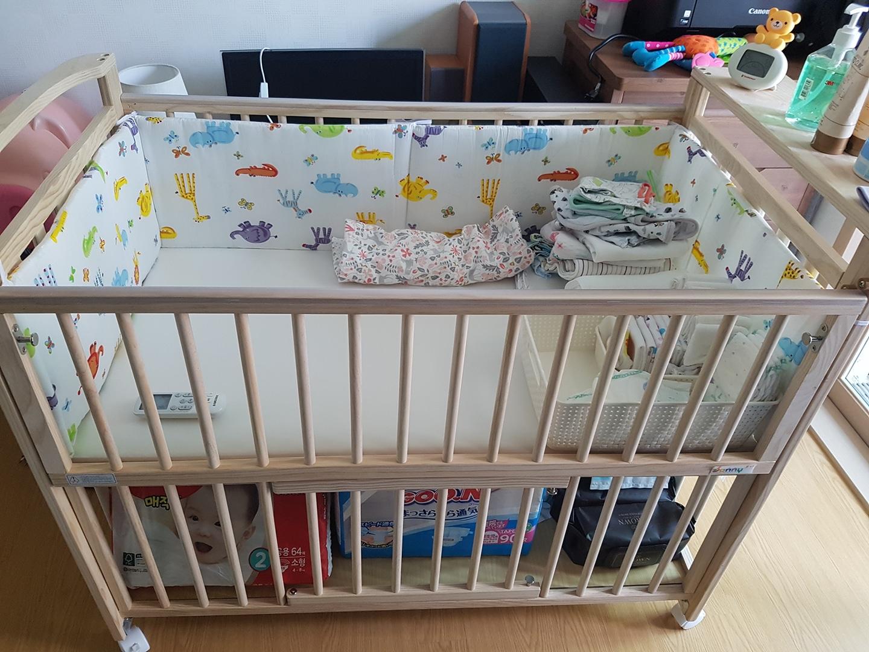 보니유아침대(아기원목침대)