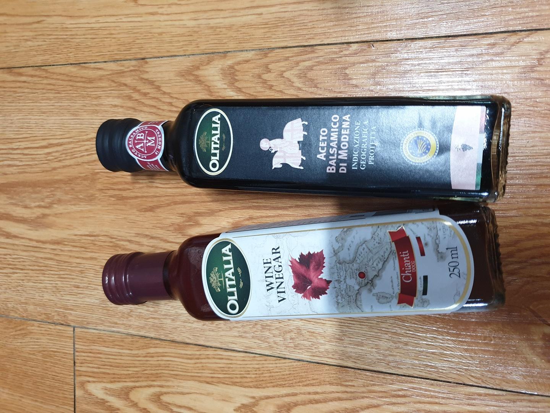 올리타리아 와인식초 250ml + 발사믹식초 250ml 일괄