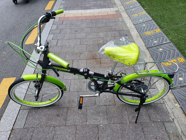20인치 알루미늄 접이식 자전거 새상품 판매합니다