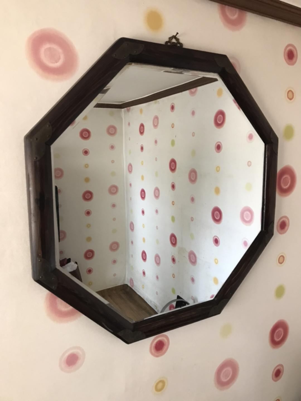 이조가구 8각 대형 거울 고가구