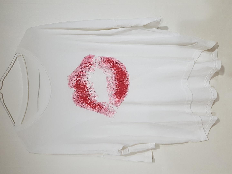 여성 칠부 여름티셔츠