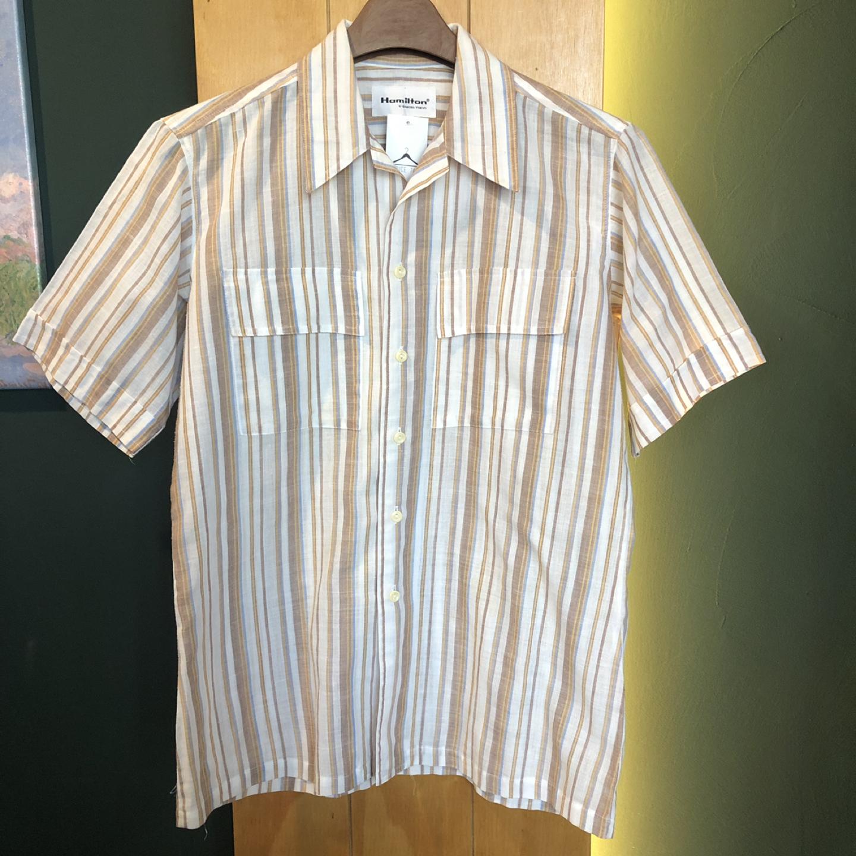 [일본구제] 오픈카라 린넨 셔츠
