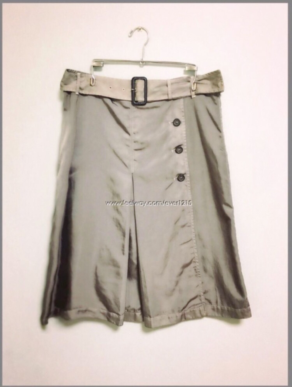 (정품)PRADA silver skirt