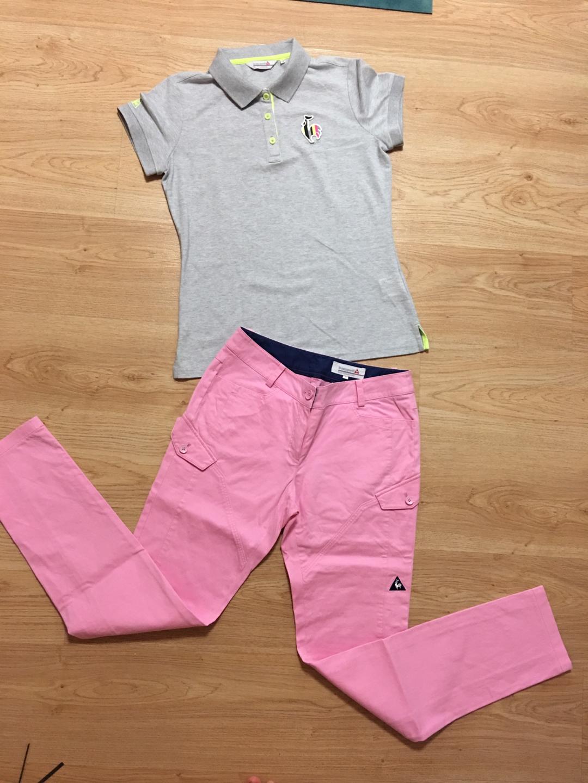 르꼬끄골프 정품 티셔츠 90(m) 핑크바지 9사이즈 셋트