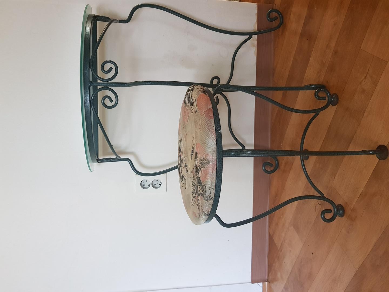 철제 화장대(유리포함)/의자