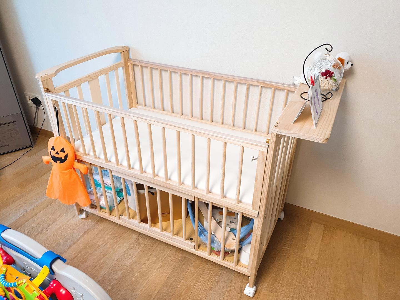 아기 원목 침대