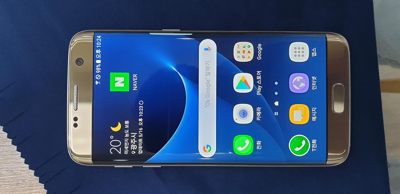 삼성 Galaxy S7 Edge 32 골드플래티넘 휴대폰 핸드폰 삼성폰