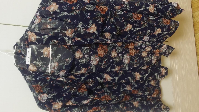 여성스런 꽃무늬 블라우스(새옷)