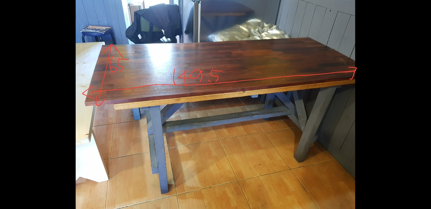 식당에서 사용했던 테이블
