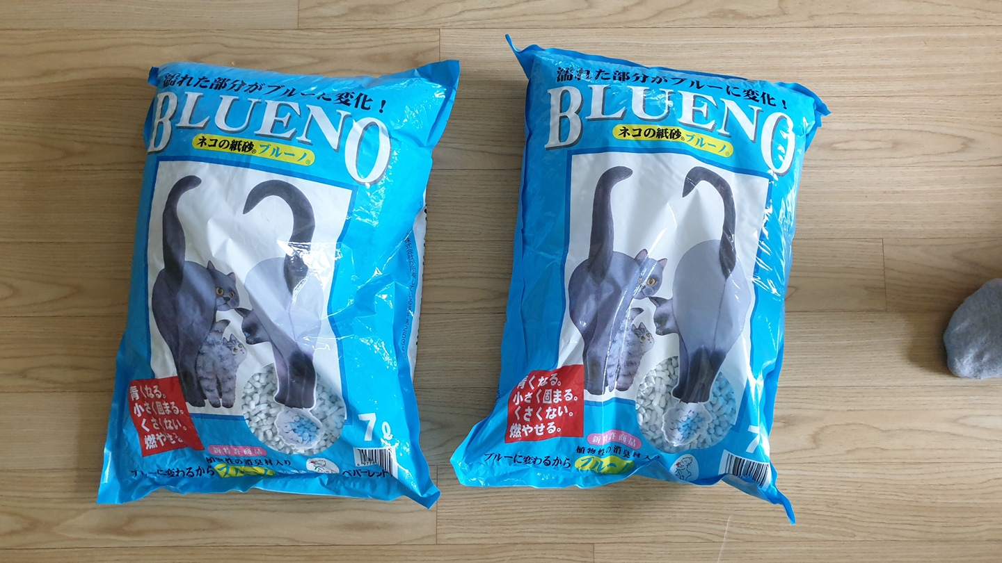 Blueno japaness paper cat litter  (고양이모래류) 팝니다