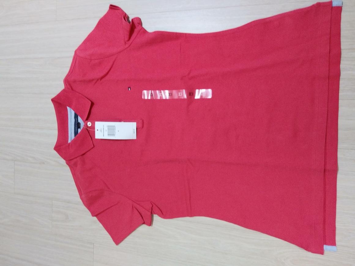 토미 여성반팔 분홍빛 도는 다홍색 M
