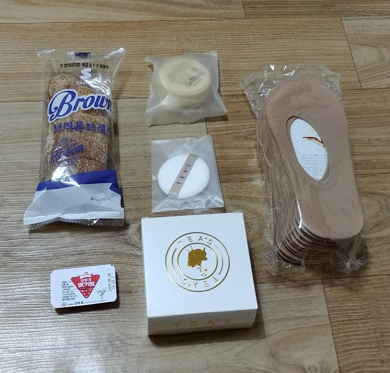(전부새제품) 티스쿠션15g+덧신10켤레+부쉬맨빵