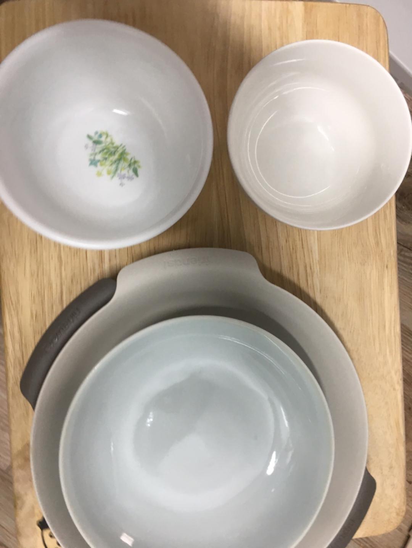 밥그릇(1개 코렐) 접시3개 (일괄판매)