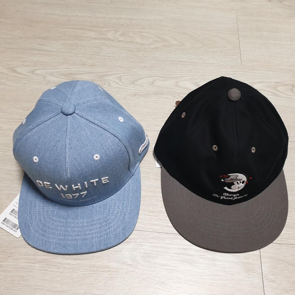 화이트블랭크 모자 2개 새상품 - 무료택배