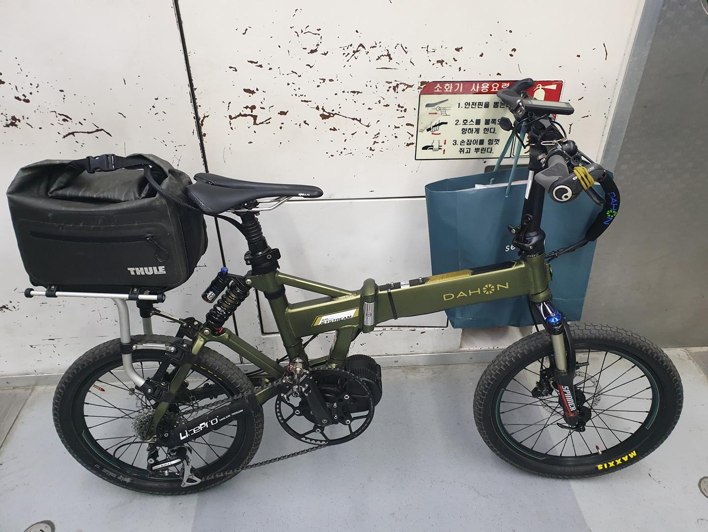 접이식 다혼 제트스트림 전기자전거 20인치 센터드라이브 500W XT 유압 브레이크 등 튜닝 다수 제품 판매