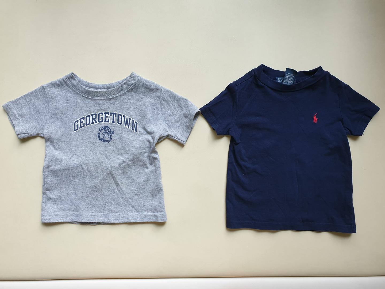 폴로 티셔츠 및 반팔티 2개 12m