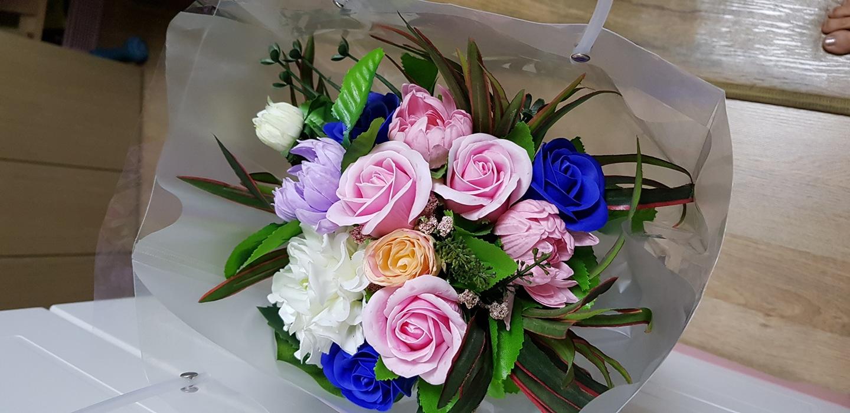 비누조화 꽃다발
