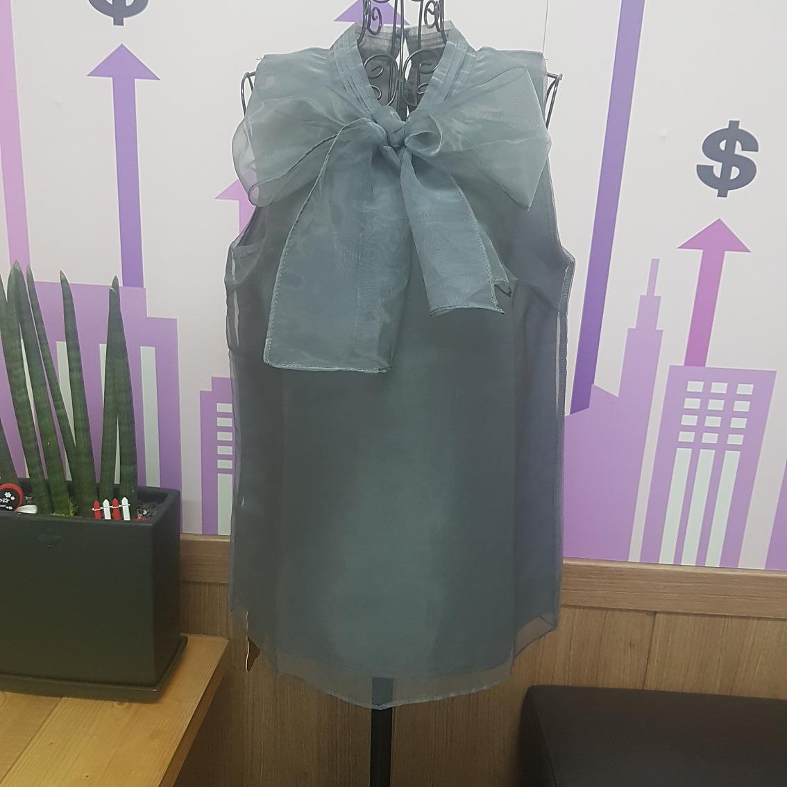 시스루 리본 상의 55.66새옷