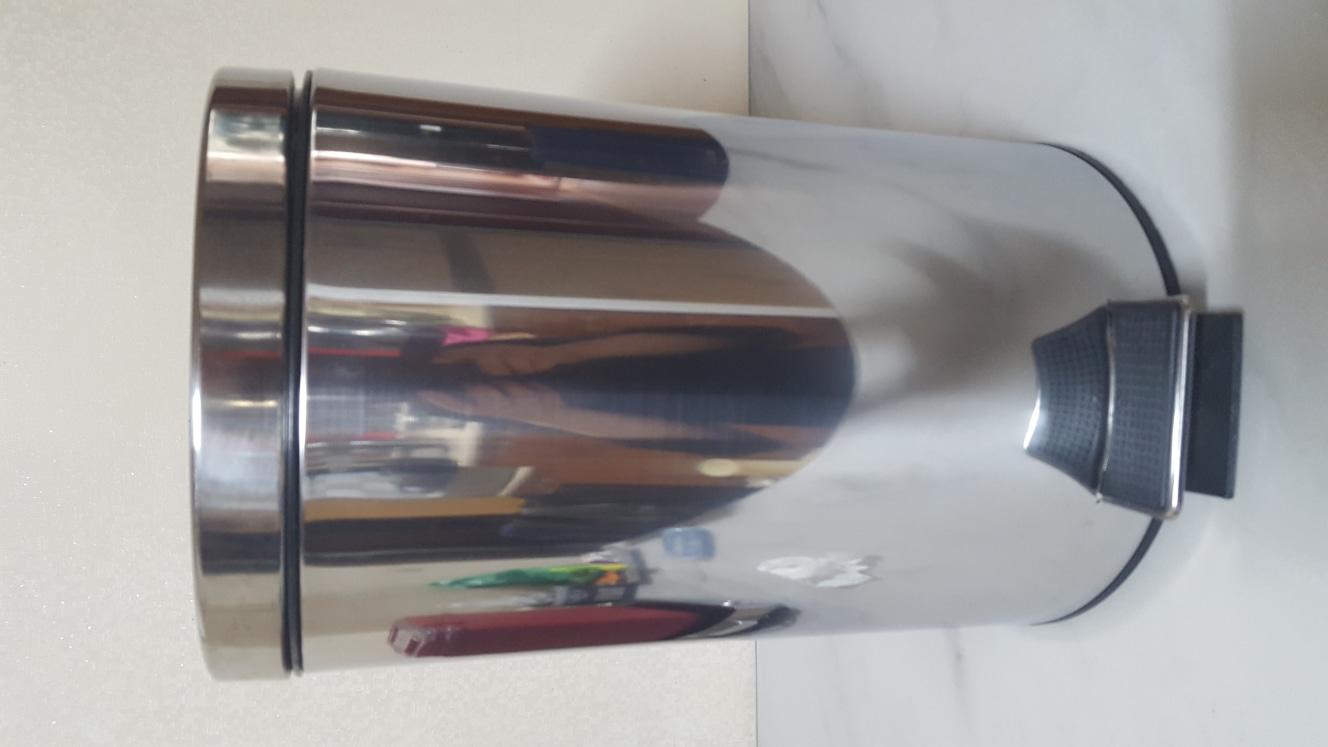 스텐 페달 휴지통1.2리터