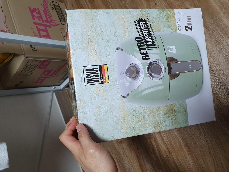 비스카 에어프라이어 2L 튀김기 에어프라이기 아이보리칼라 + 믹싱볼 1개