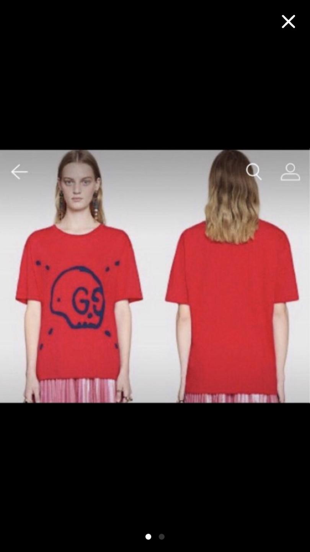 구찌 고스트 티셔츠
