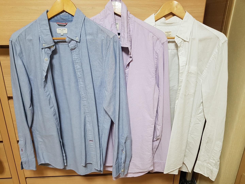 옥스퍼드 기본셔츠/남방 XL 3벌묶음
