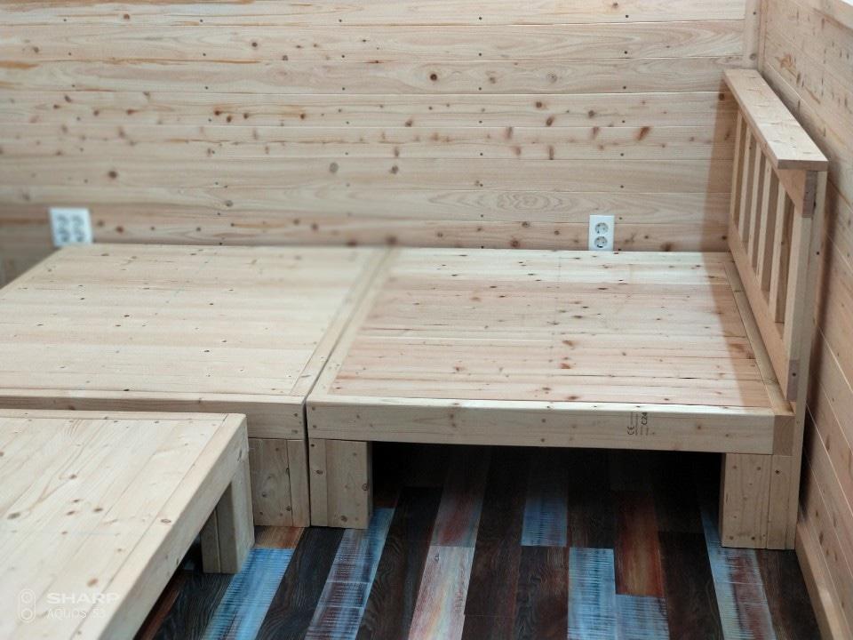 원목(소나무) 침대 프레임(가격내림)
