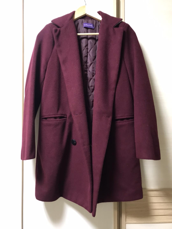 올리비아클로젯 코트(와인색)