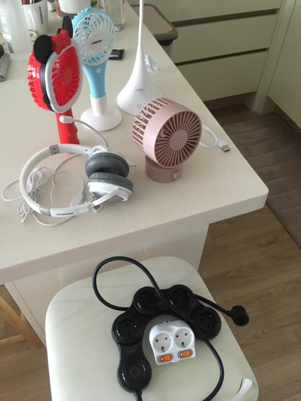 (만원)선풍기,헤드폰,조명,멀티탭