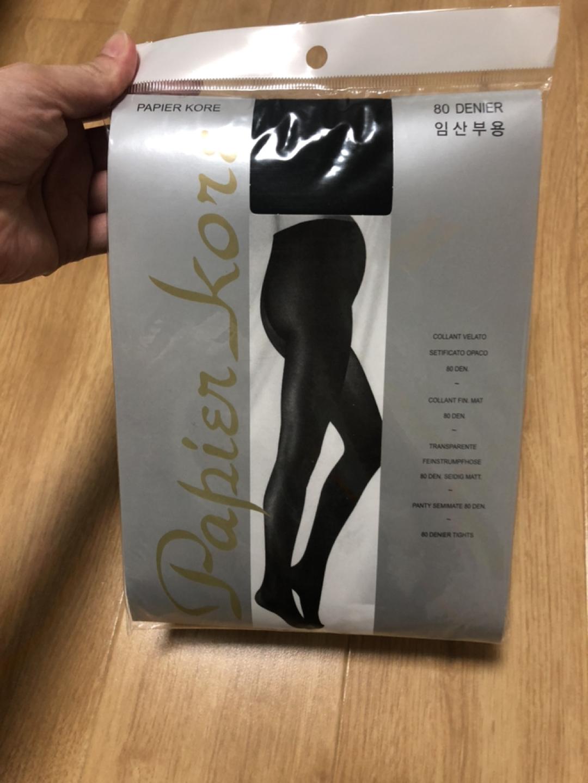(새상품) 임산부용 검정팬티스타킹 80D